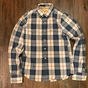 Hollister M Long Sleeve Plaid Shirt